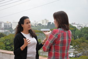Dr. Lorena Torres Martinez teaches a genomics workshop in Colombia